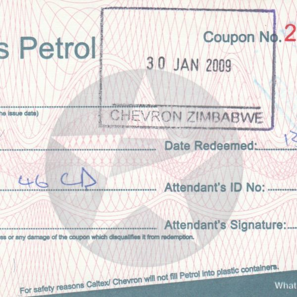 Zimbabwe gas coupon